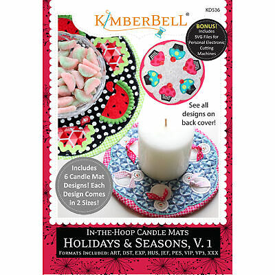 Kimberbell, In-The-Hoop Candle Mats: Holidays & Seasons, Volume 1