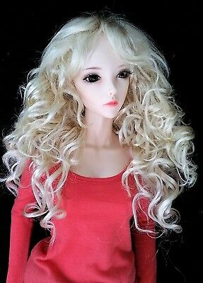 Monique APRIL wig 8//9 for EID 1//3 BJD MSD Wonder My Meadow Woman Luts Wiggs PINK