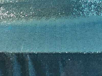 Light Blue 3mm Sequin Fabric Sparkly Bling Material 2W Stretch 130cm Wide metre