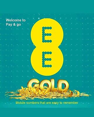 VIP GOLD EE SIM CARD CUSTOM NUMBER 4G PAY AS YOU GO DIAMOND - Get Your One Now