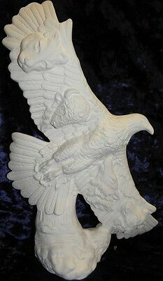 Ceramic Bisque Ready to Paint Eagle with Animal head addons