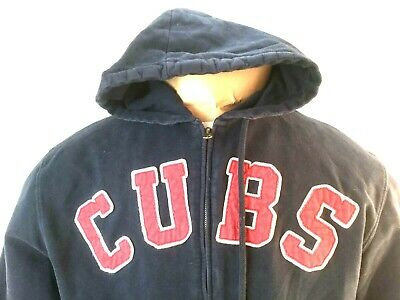 best service 5b72c 0e6b7 VINTAGE DISTRESSED CHICAGO Cubs Hoodie Embroidered Hooded Sweatshirt C blue  red