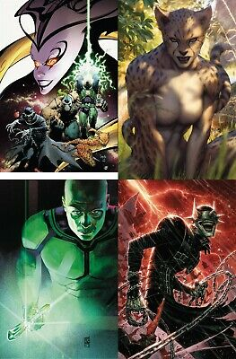 Dc Comic Year Of The Villain 1 1:500 Variant Set Of 4 Nm Cheung, Maleev, Artgerm