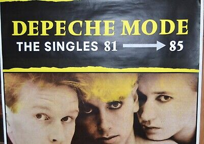 "Depeche Mode The Singles 81-85 Vintage Promo Poster Huge 41""x60""  LP Record"