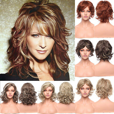 Ladies Long Blonde Full Wig Hair Fringe Style Brown Black Fashion Wigs Wig Ombre