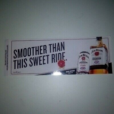 Jim Beam / AFL Footy Sticker (2018) SMOOTHER THAN THIS SWEET RIDE