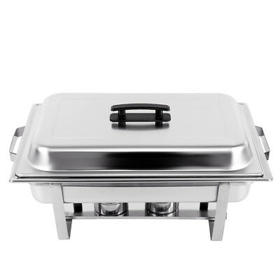 9L(2X4.5L) Stainless Steel Chafing Dish Buffet Stoves Caterers Food Warmer Tray