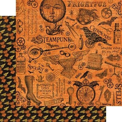 """G45 - Steampunk Spells D/sided 12""""x12"""" Paper - Mechanical Marvels"""