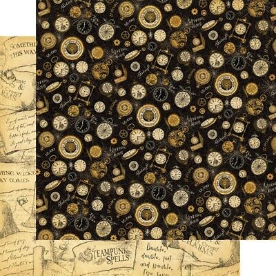 """G45 - Steampunk Spells D/sided 12""""x12"""" Paper - Witching Hour"""