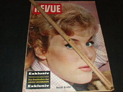 "Heidi Brühl … on cover … german magazine ""REVUE"" … 1961"