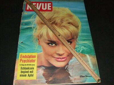 "Elke Sommer … on cover … german magazine ""REVUE"" … 1961 (b)"