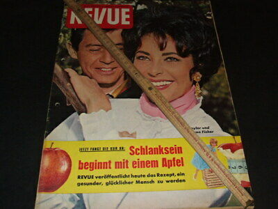 "Elizabeth Taylor … on cover … german magazine ""REVUE"" … 1961 (b)"