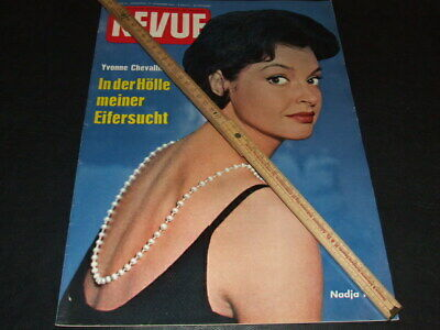 "Nadja Tiller … on cover … 1961 … german magazine ""REVUE"""