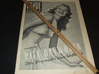 "Rita Hayworth … on cover … 1951 … german magazine ""REVUE"""