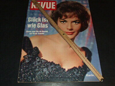 "Karin Dor … on cover … 1962 … german magazine ""REVUE"""
