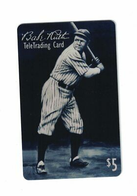 Babe Ruth Vintage Collector Baseball Phone Card $5 1st Edition 5000 Mintage