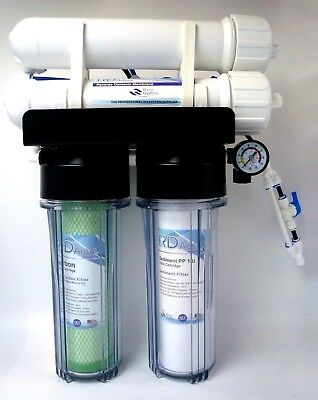 4 STAGE HYDROPONICS RO Reverse Osmosis water filter System, 200 GPD, 3/8