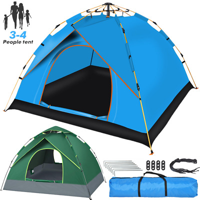 3-4 Man Outdoor Hydraulic Automatic Instant Double layer Waterproof Camping Tent