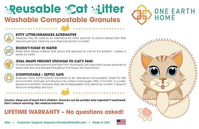 CatGenie Washable Granules Biodegradeable / Marine Compostable **2 Pack** 7 lbs