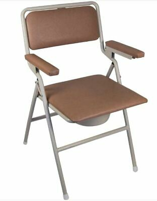 K-Care Folding Bedside Commode BRAND NEW Toilet Chair Folds Flat