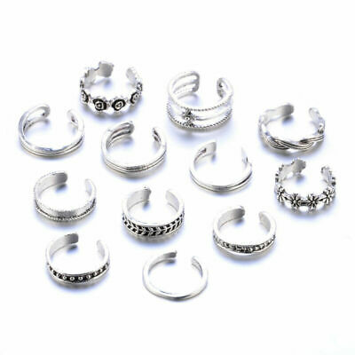 Knuckle Hollow Boho Finger Foot Gifts Rings 12Pcs/Set Ring Fashion Jewelry