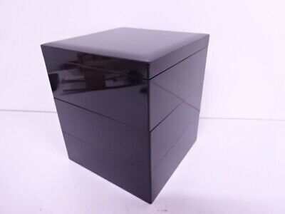 4080466: Japanese Tea Ceremony / Lacquered Three-Tier Stacking Box