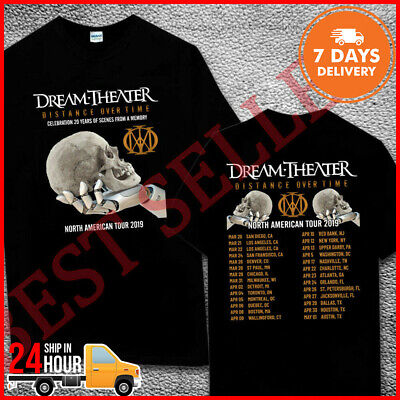 DREAM THEATER T SHIRT DISTANCE OVER TIME TOUR 2018 2019 Concert T-Shirt Music