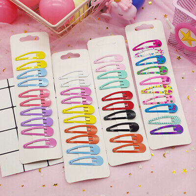 Hot 10pcs Cute Candy Color Kid Girl Hairpin BB Snap Hair Clips Hair Accessories