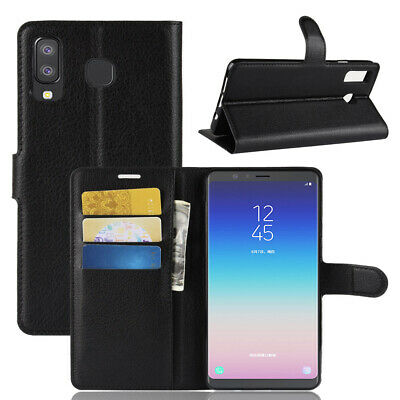 For Samsung Galaxy S9 Plus J3 7 A6 2018 Flip Leather Wallet Book Phone Case Covr