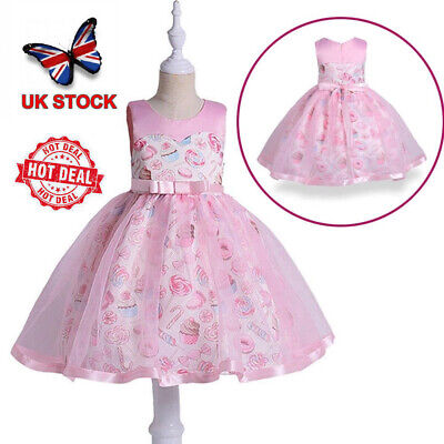 eff6f47c6b307 Girls Fashion Bridesmaid Dresses Kids Party Wedding Dress Princess SWEET  DRESSES