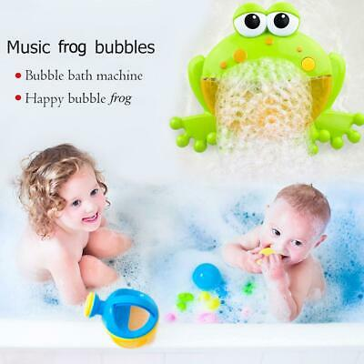 Baby Big Frogs Automatic Bubble Maker Blower Play Toy Music Bathtub Soap Machine
