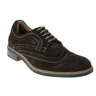 New Mens Lotus Brown Alfred Suede Shoes Brogue Lace Up