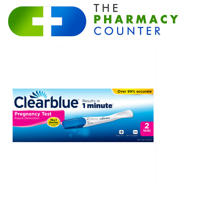 2 x Clearblue Pregnancy Test Fast and Easy to Read Results In 2 Minutes