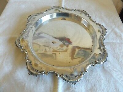 """Vintage Epns Silver Plated Sweet Dish / Tray / Plate 12"""" Diameter Stamped """"3799"""""""