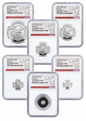 2019 Great Britain Silver Britannia 6 Coin Proof Set NGC PF69 UC FR SKU57298