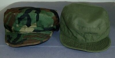 2 Vintage US Army Military Caps S, 7 1/4