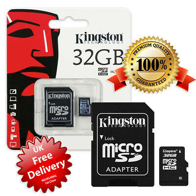 Kingston Micro SD 32GB SDHC Memory Card Mobile Phone Class 10 With SD ADAPTER!