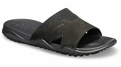 dadc403a5 CROCS MENS SWIFTWATER™ Leather Slide -  44.99