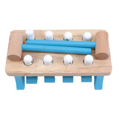 Wooden Hammer Toy Hammer Peg Pounding Toy Bench Tap Hammer Game Fast 8C