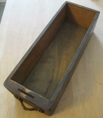 Antique Wooden Sewing Machine Drawer W/Wooden Pull