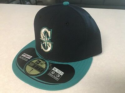 best cheap 01e51 00aa3 NWT New Era MLB Fitted 5950 59fifty Seattle Mariners Hat Cap Size 7
