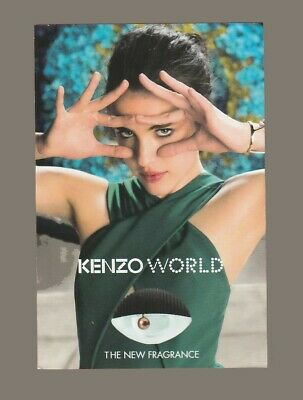 Carte Publicitaire- advertising card - World  Kenzo recto verso