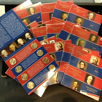 Lot of 18 Sealed US Mint Presidential $1 Coin Uncirculated Sets 2007-2010