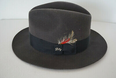 dee6a24192f74 Bailey Of Hollywood Men s 100% Wool Gangster Fedora Hat Size L WPL5923 USA  Made