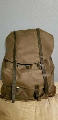 Vintage Swiss Army Military Backpack Rucksack Waterproof Rubberized Canvas
