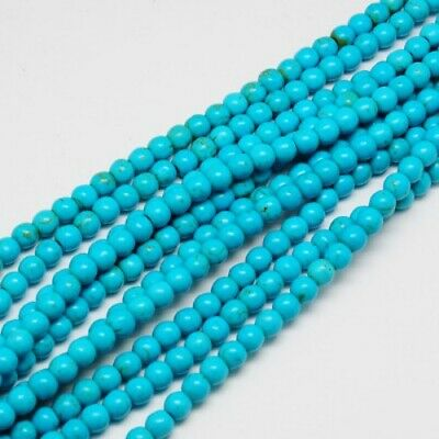 Strand of imitation turquoise round glass beads 4mm 6mm 8mm