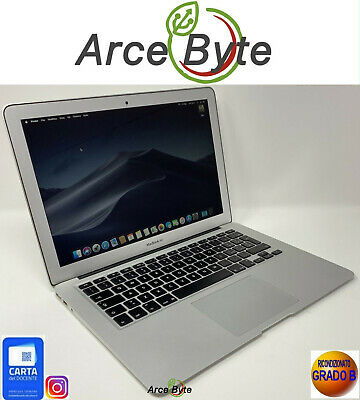 "APPLE MACBOOK AIR 13"" 2015 INTEL CORE i5 RICONDIZIONATO GRADO B MOJAVE 10.14"