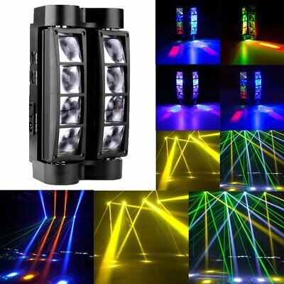 RGBW 80W 8 LED Spider Beam Moving Head Stage Lights Bar Disco Show DJ Lighting