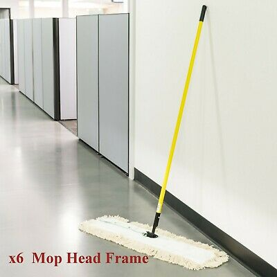 "Commercial 36"" Dust Mop Frame - 5 x 36"" Swivel Snap Frame by Scrubble M9536 6Pc."