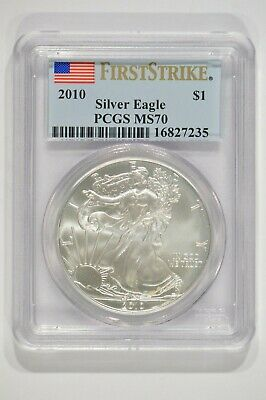 2010 American Silver Eagle $1 PCGS MS70 First Strike Spotted 16827235